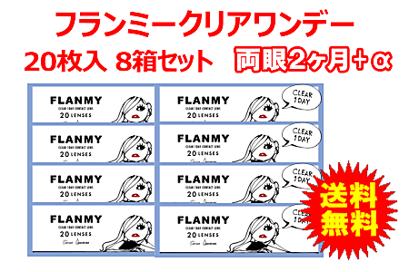 フランミークリアワンデー 8箱セット